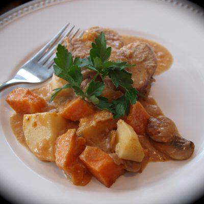 Roast Pork Tenderloin and Mushroom Dinner