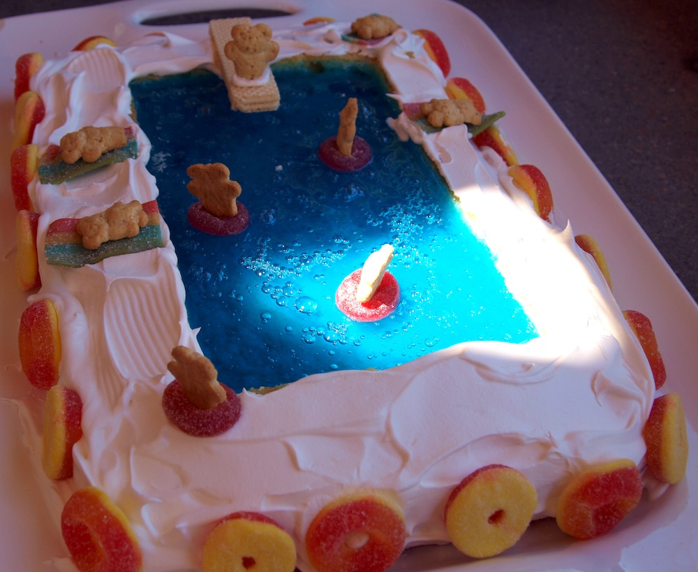 Pool party cake life in pleasantville pool party cake sciox Choice Image