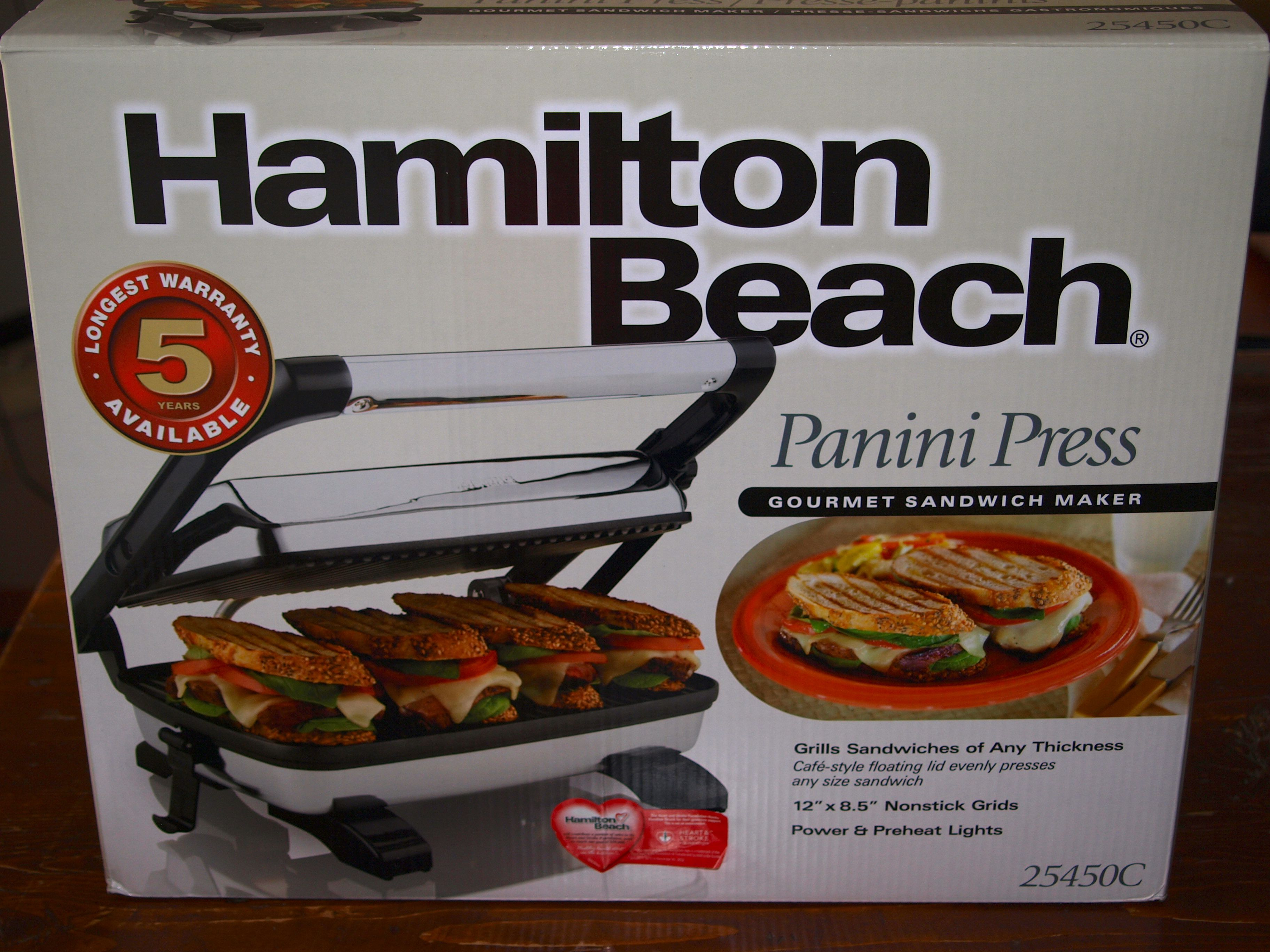 hamilton beach panini press giveaway life in pleasantville. Black Bedroom Furniture Sets. Home Design Ideas