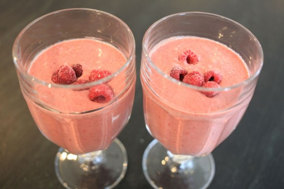 nutella raspberry smoothie