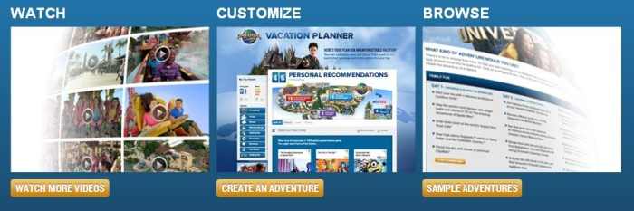 vacation planning universal orlando