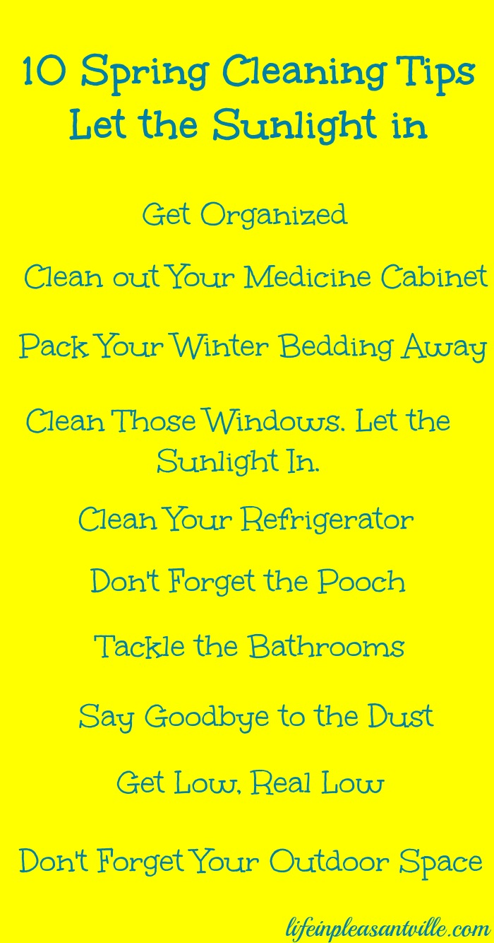 10 spring cleaning tips - let the sunlight in
