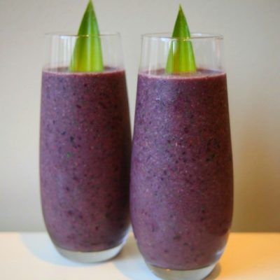 Blueberry Date Smoothie – Power Breakfast