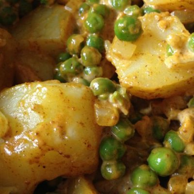 Curry Potato Salad with Sweet Peas