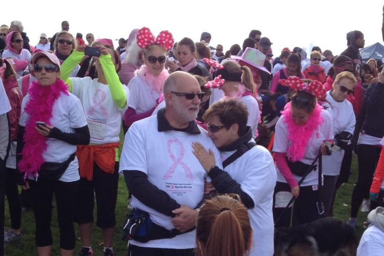 cibc run for the cure; breast cancer; mississauga
