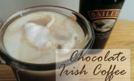 Hot Coffee Drink with Baileys and Chocolate Syrup