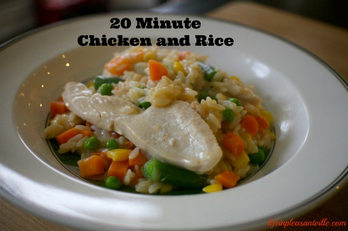 20 minute chicken and rice, quick meals, weeknight, meals made with Campbell's Soup