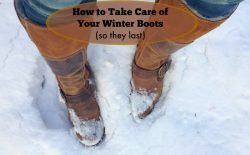 how to take care of winter boots