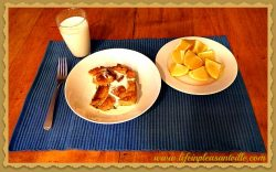 baked french toast served