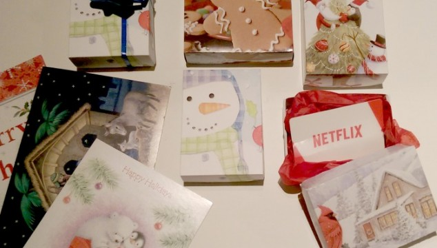 Up-cycling Old Christmas Cards into Small Gift Boxes