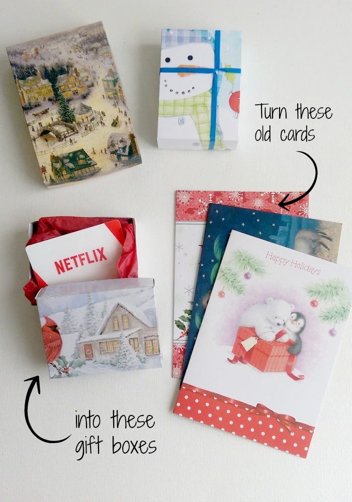 Diy Christmas Favor Boxes : Diy gift boxes up cycling christmas cards life in