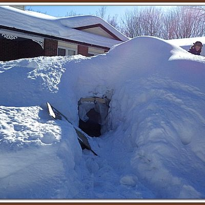 Building the Ultimate Snow Fort – The Beast on Our Front Lawn