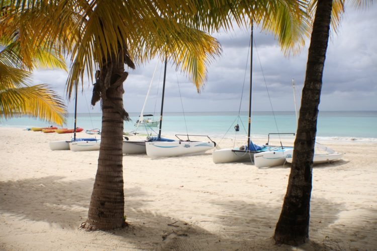 couples swept away negril, beach shot