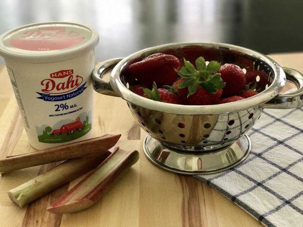Strawberry Rhubarb Yogurt