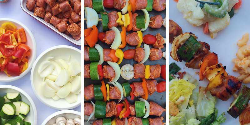 Whiskey BBQ Sausage Kabobs Make Summertime Entertaining a Breeze