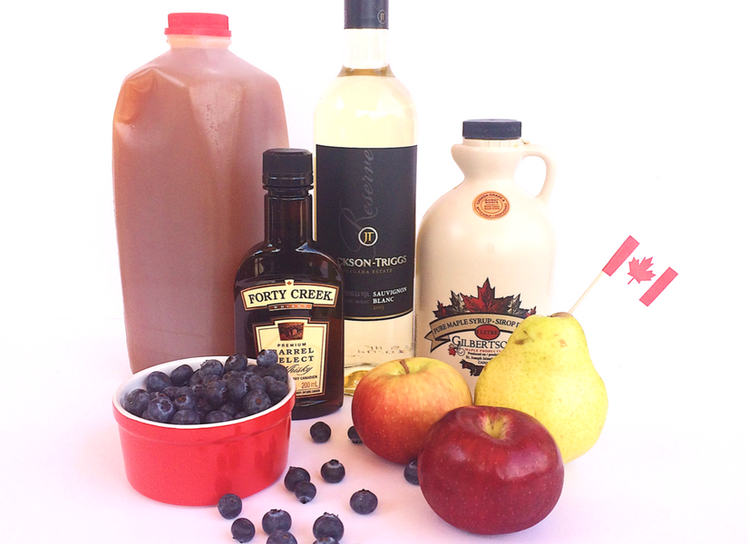 the best Canadian ingredients in this Canadian Sangria