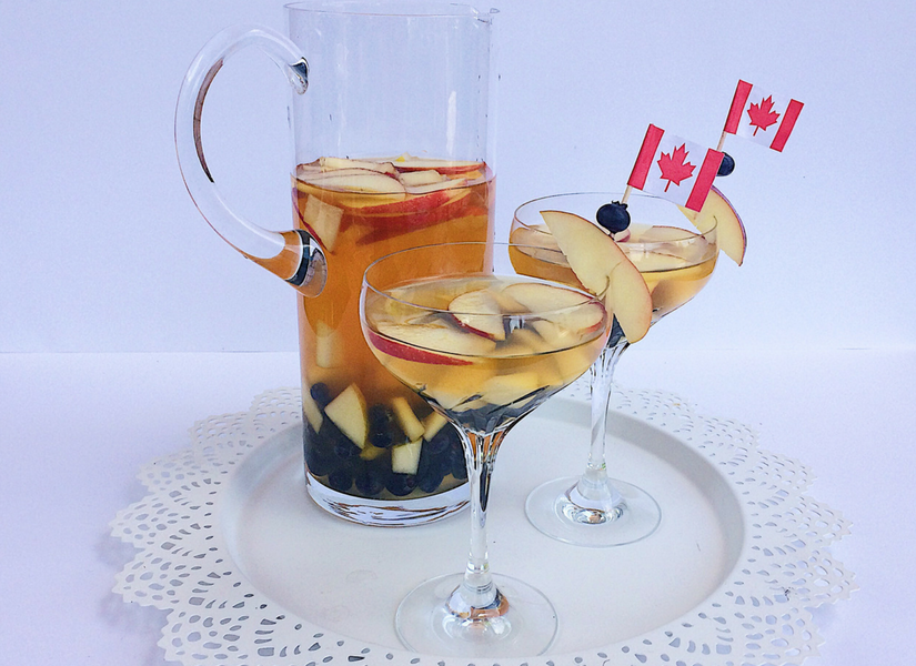 Celebrate Canada Day with the most Canadian sangria ever
